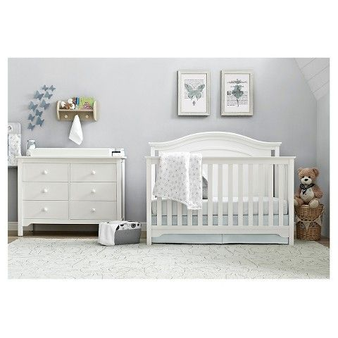 Eddie Bauer Hayworth Baby Standard Full-Sized Crib - WHITE