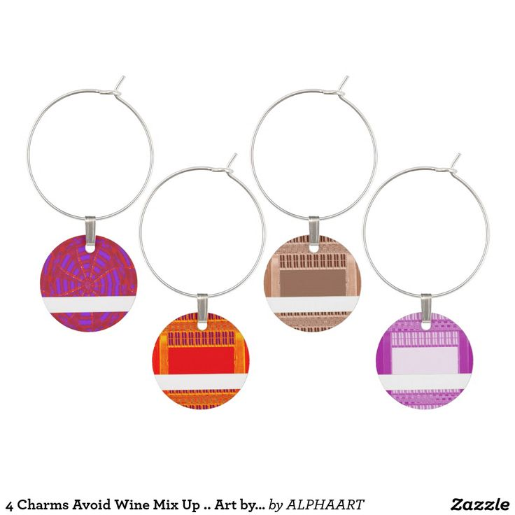 4 Charms Avoid Wine Mix Up .. Art by NavinJoshi Wine Charms