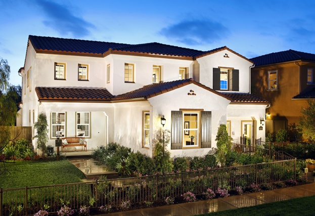 Presidio by Standard Pacific Homes at new home community Del Sur in San Diego // white exteriors, architecture, landscaping, home design, new homes