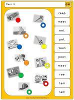 Piccolo- / knijpkaarten Veilig Leren Lezen KIM Kern 2