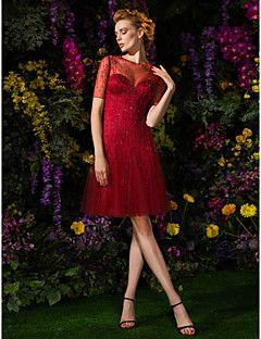 A-line Jewel Knee-length Tulle Cocktail Dress (2092560) – USD $ 199.99