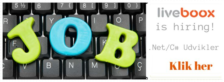 .Net/C# Udvikler søges til Liveboox http://jobfee.dk/ledige-jobs/2014/01/erfaren-online-manager-soeges-til-liveboox/ #dkjob #nytjob