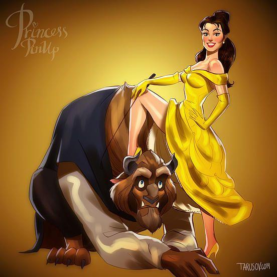 Si las princesas de Disney fueran modelos pin-up... 10 ilustraciones sorprendentemente audaces. :: Gomitas