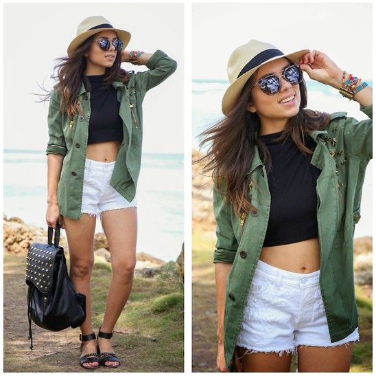 Levi's® Shorts, Love Shopping Miami Crop Top, Sole Society Backpack, Sole Society Sunglasses, Sole Society Sandals