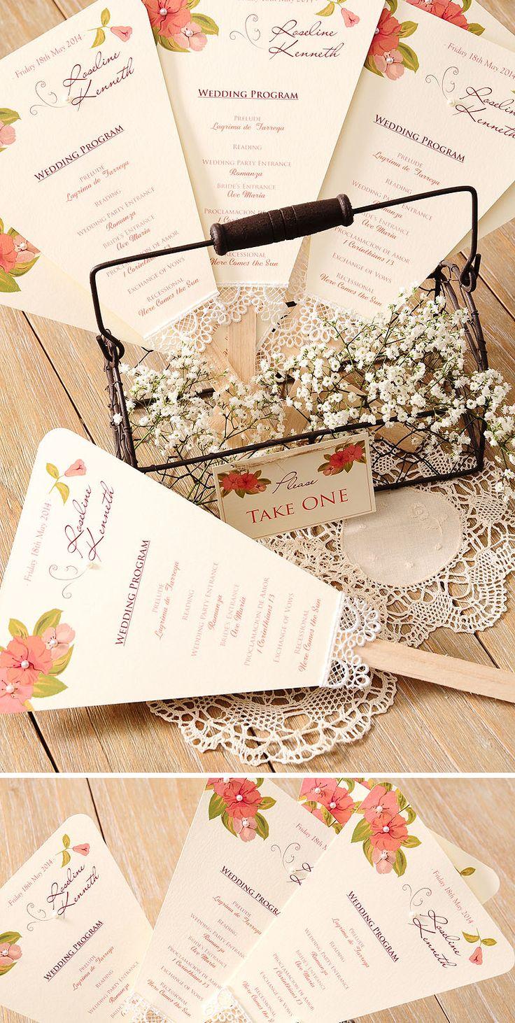 Programa de boda en forma paipai para una boda en el campo