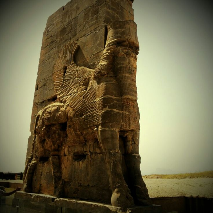(The part )The Gate of All Nations or Gate of Xerxes palace is located in the ruins of the ancient city of Persepolis