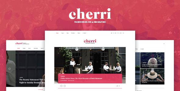 Cherri - Personal Blog HTML Template . Cherri is a clean and elegant blog template, created for those who like to travel and know how to promot most interesting media. Cherri include all popular features that will help you in your