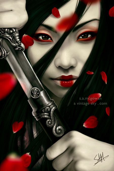 samurai women posters | ceu continua esperando: CG Girls GG GAROTAS MULHERES DESENHOS CG