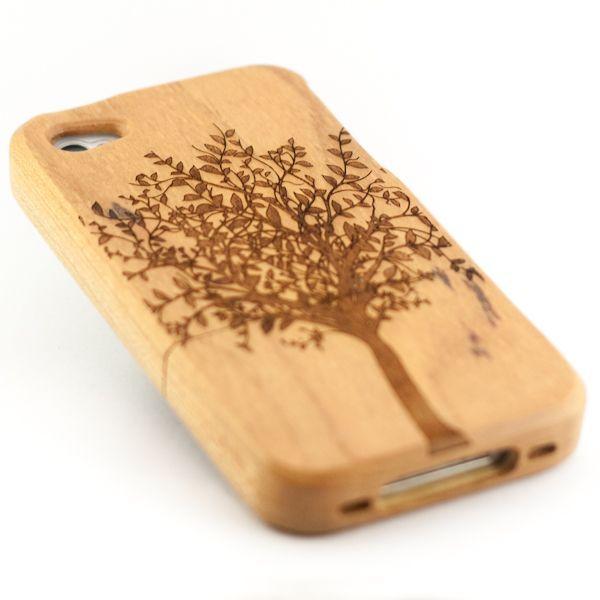funda árbol 29,99 € (reducción de 50 %) ¡en rebajas! Fundas de madera de bambú con diseño de árbol. Compatible con iPhone 4/4s.
