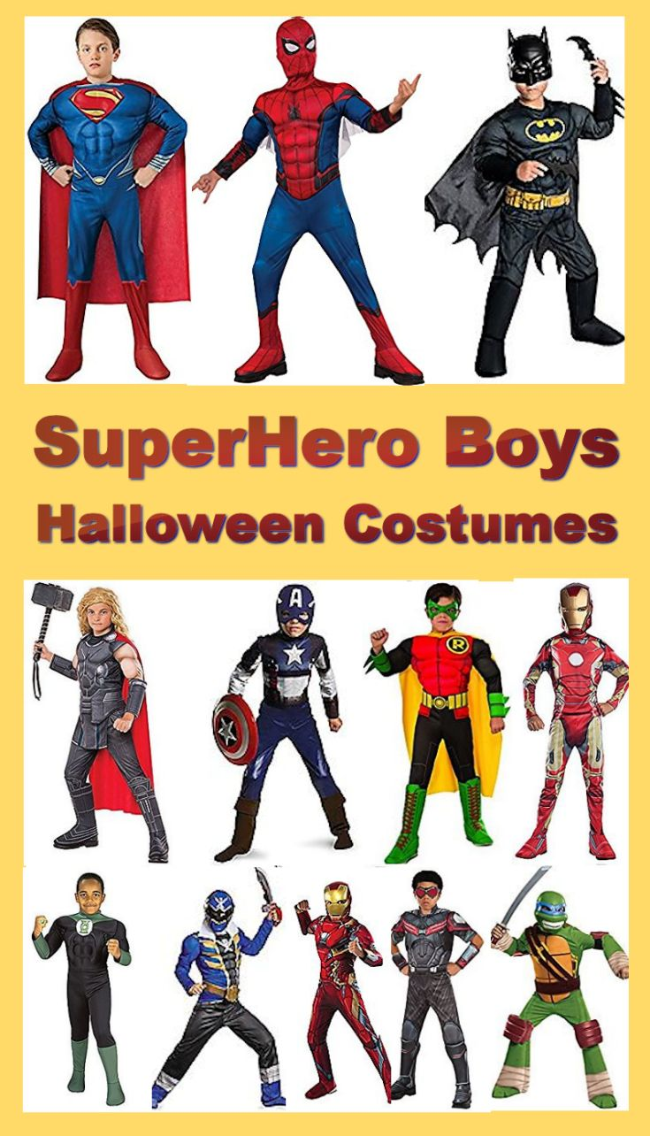 Dressing up as a superhero to fight for justice (and get lots of treats) is something that will make an unforgettable Halloween night. Plus, once the trick or treating is over with, the superhero costumes for boys are a lot of fun to wear while playing!