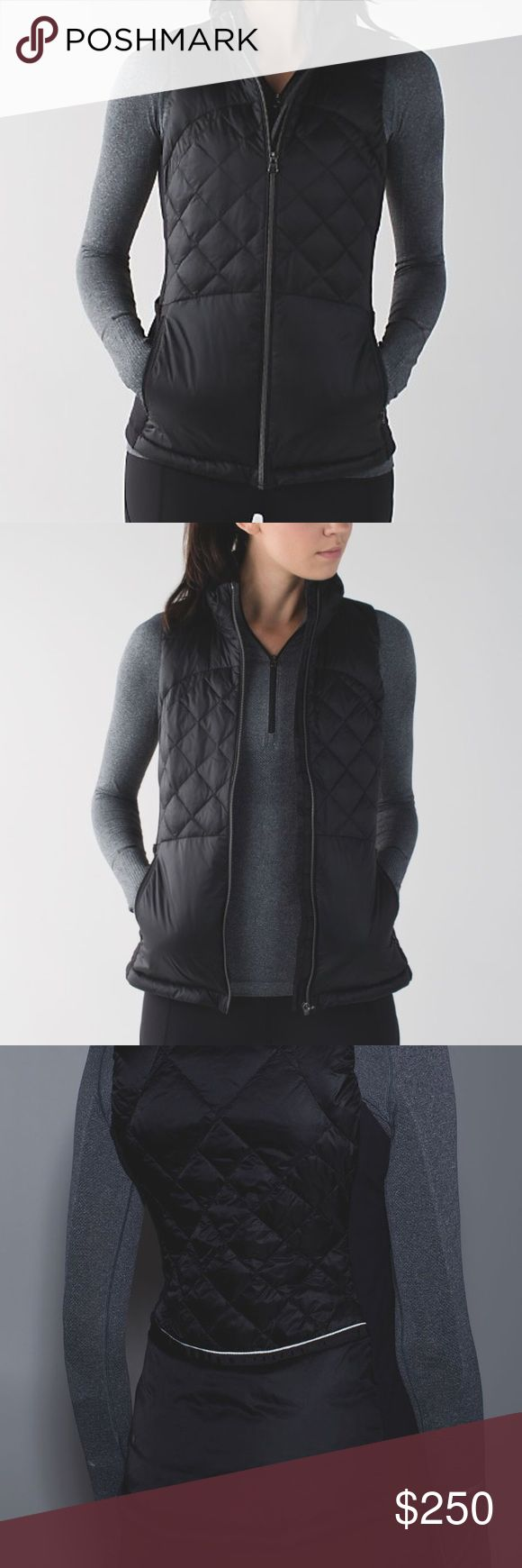 Lululemon down for a run vest Run from morning to night—this lightweight, slim-fitting vest is perfect for transitional weather. ultra lightweight Glyde Light fabric is wind- and water-resistantsoft, sweat-wicking Rulu™ fabric side panels have added LYCRA® fibre so you can move freelysecure pockets and media pocket with cord exitside slip pockets to stash gloves and hat mid-runreflective details help keep you bright in low lightimporteddesigned for: runfabric(s): Glyde Light, Rulu™ color…