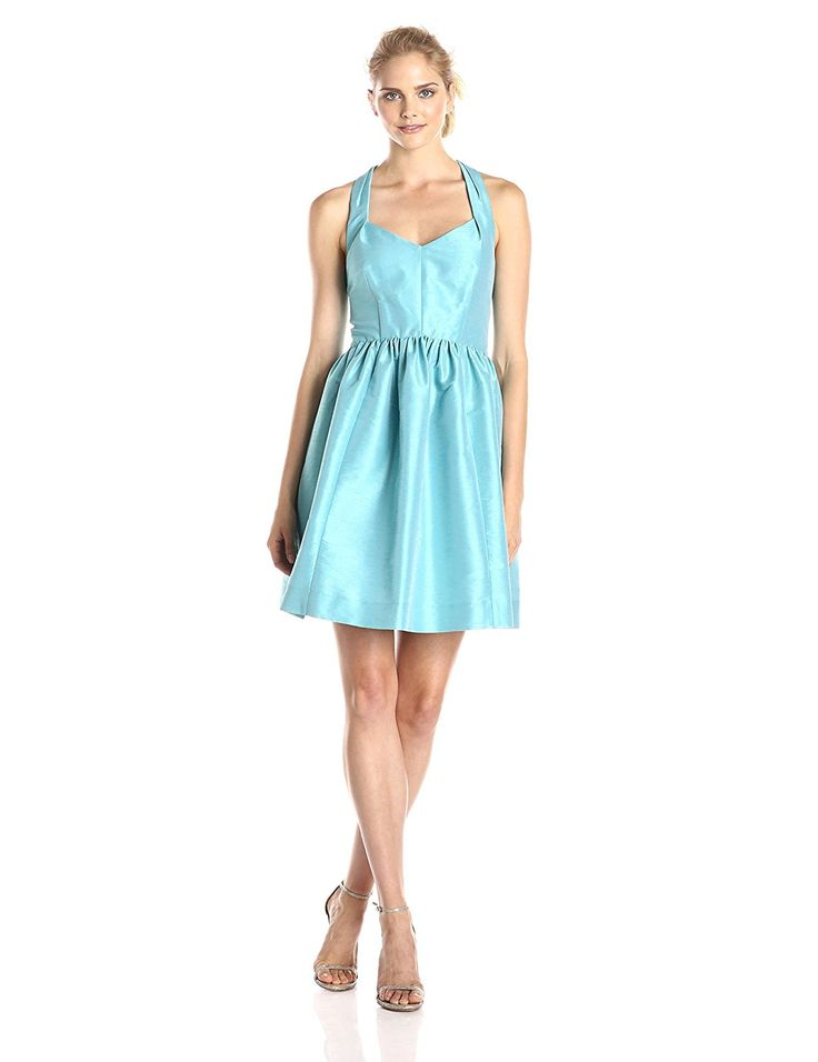 Donna Morgan Women's Trish Halter Fit and Flare Dress * Awesome product. Click the image : Women's dresses