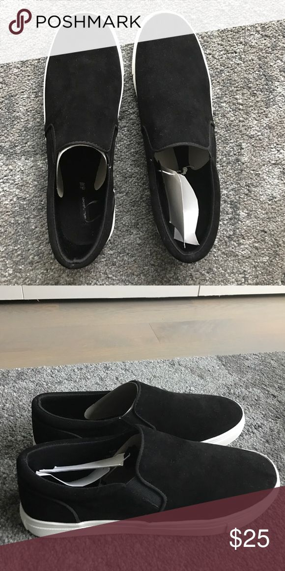 Brand new H&M black leather sneakers Brand-new, inbox, tags attached. Black leather sneakers. H&M Shoes Sneakers