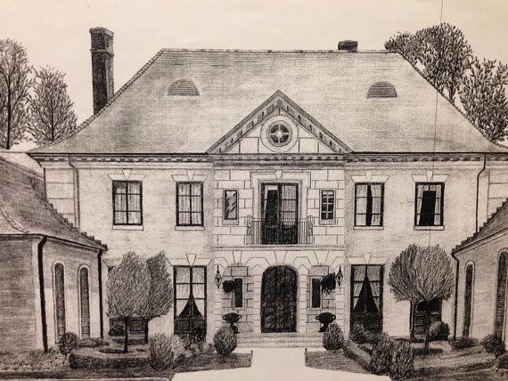 House drawings on Etsy, $250.00