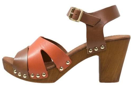 Tamaris Sandalias Con Plataforma Cafe Orange sandalias calzado Tamaris sandalias plataforma orange CAFE Noe.Moda