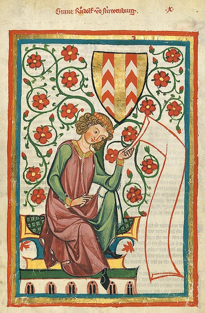 Codex Manesse. Yet another sleeveless outer layer with interesting neckline.