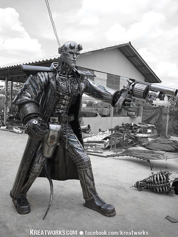 Hellboy, Kreatworks, The Steampunk & Recycled Metal Arts