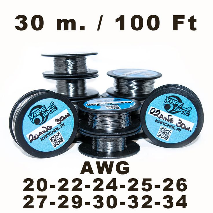KANTHAL A1 SPOOL 30m. / 100 FT  20/22/24/25/26/27/28/29/30/32/34 AWG