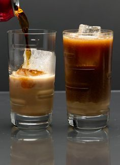 1 oz Jameson Irish Whiskey (I'm sure other whiskey would work too) 1/2 oz Bailey's Irish Cream 1/2 oz Butterscotch Schnapps 1/2 oz cream 12 oz Root Beer