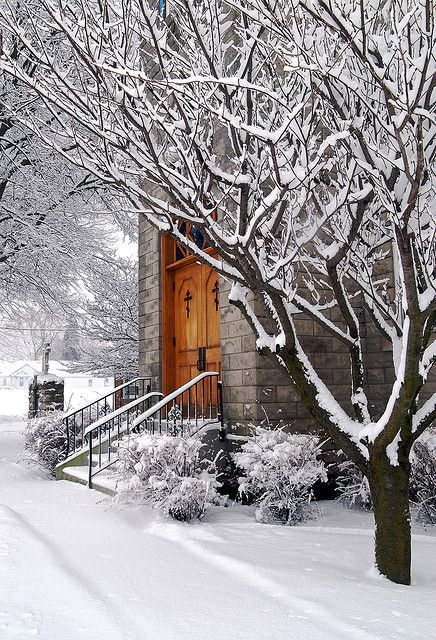 Marblehead Church on a Snowy Morning by Lake Erie Living Photo Contest, via Flickr