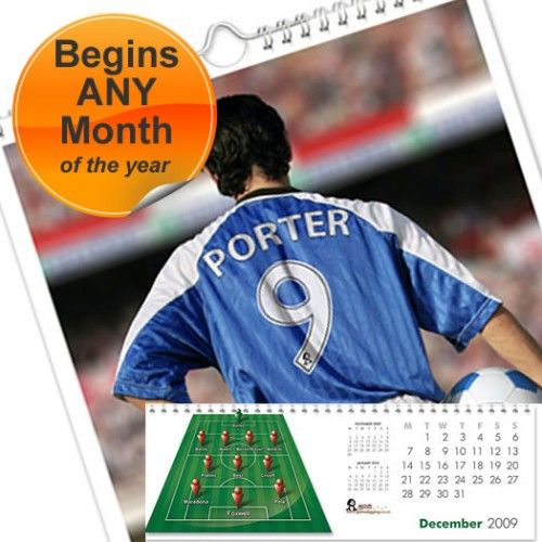 Personalised Football Calendar  from Personalised Gifts Shop - ONLY £9.99