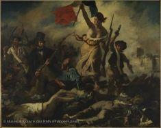 La Liberté guidant le peuple  :  Musée du Louvre.
