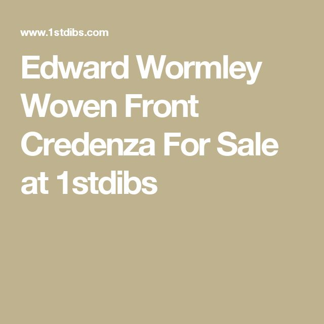 Edward Wormley Woven Front Credenza For Sale at 1stdibs