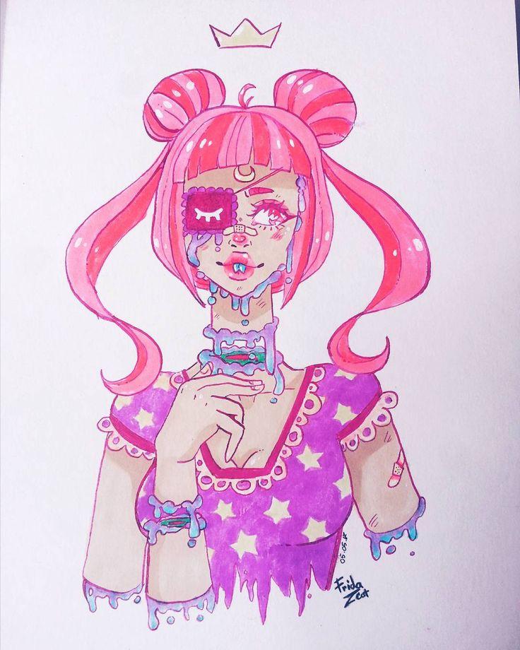 "21 aprecieri, 13 comentarii - Frida_Joker (@frids.frids.srl) pe Instagram: ""Pastel goth #pastelgoth"""