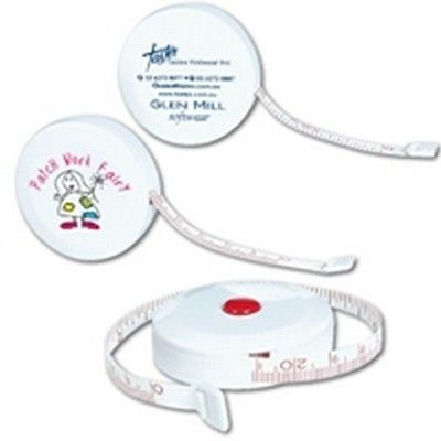 White Styleline Tape Measure incl 1 Colour Print Min 250 - Corporate Gifts - Automotive & Tools - GO-4961s - Best Value Promotional items including Promotional Merchandise, Printed T shirts, Promotional Mugs, Promotional Clothing and Corporate Gifts from PROMOSXCHAGE - Melbourne, Sydney, Brisbane - Call 1800 PROMOS (776 667)