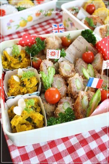 行楽弁当の詰め方: ワックスペーパー、製菓用容器(カップ)、形を揃える、使い捨てピック(手作りOK) | asamiのお弁当。