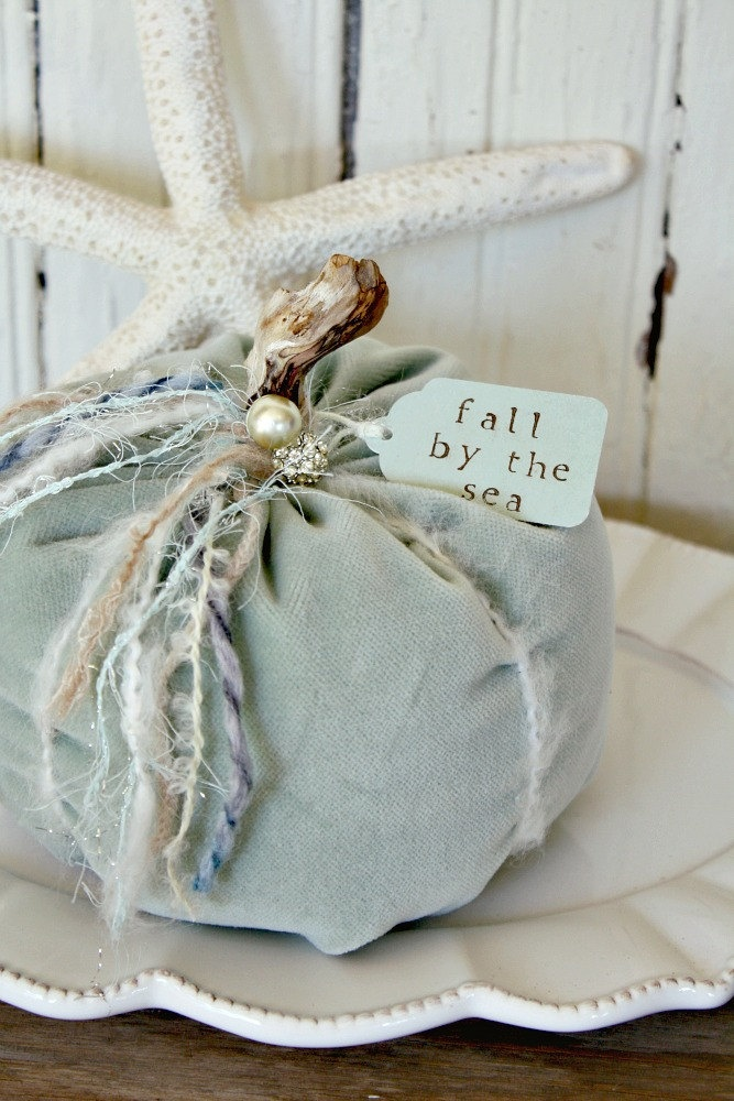 ideas for beach wedding party favors%0A Velvet PumpkinsSea Mist by timewashed on Etsy  Find this Pin and more on Beach  Wedding Ideas