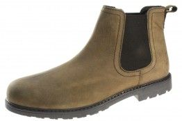 Red Tape Carey Brown Slip On  Chelsea, Ankle Boots Pull On casual Mens Leather - £26.99