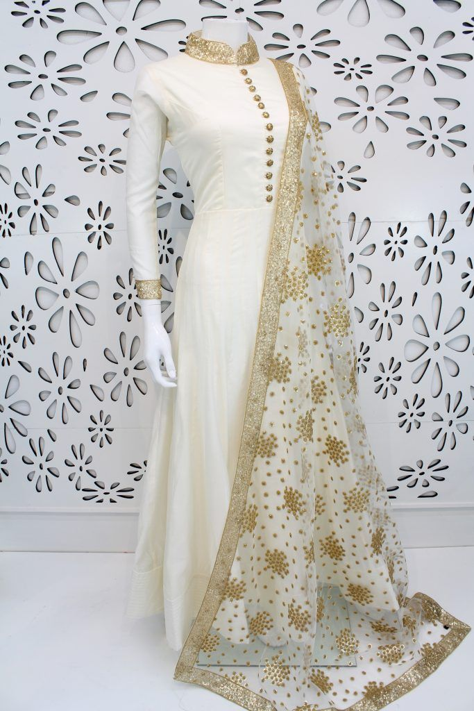 PalkhiFashion Exclusive White Silk Outfit With Elegant Worked Duppata.
