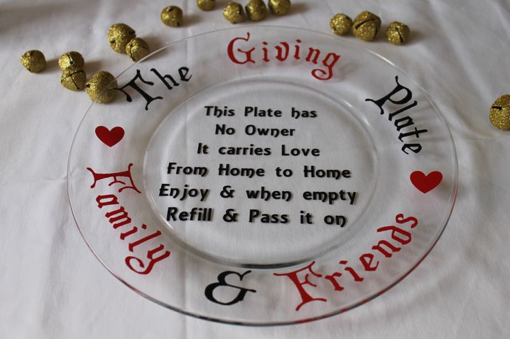 The Giving Plate Family And Friends Glass Plate With