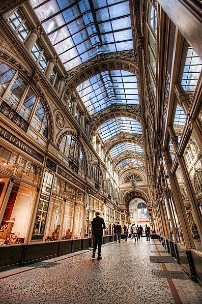 Pommeraye way in Nantes, France.