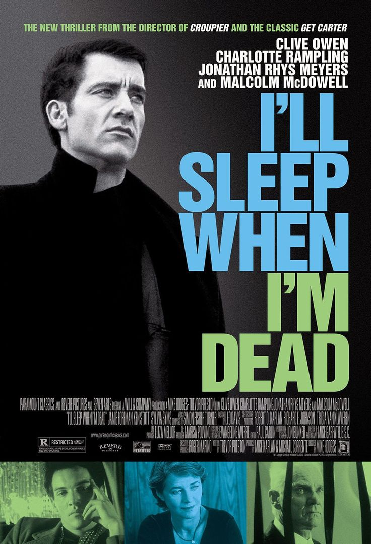 High resolution official theatrical movie poster of for i ll sleep when i m dead image dimensions 1080 x directed by mike hodges