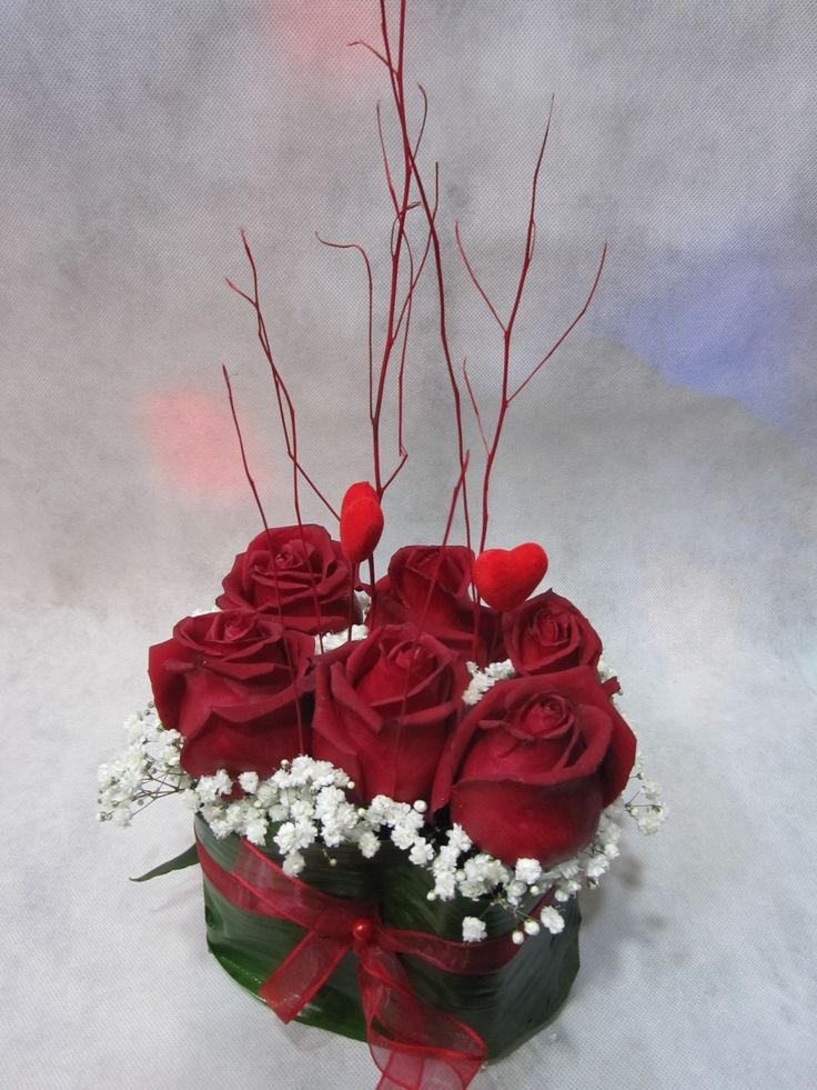 Centrotavola red roses