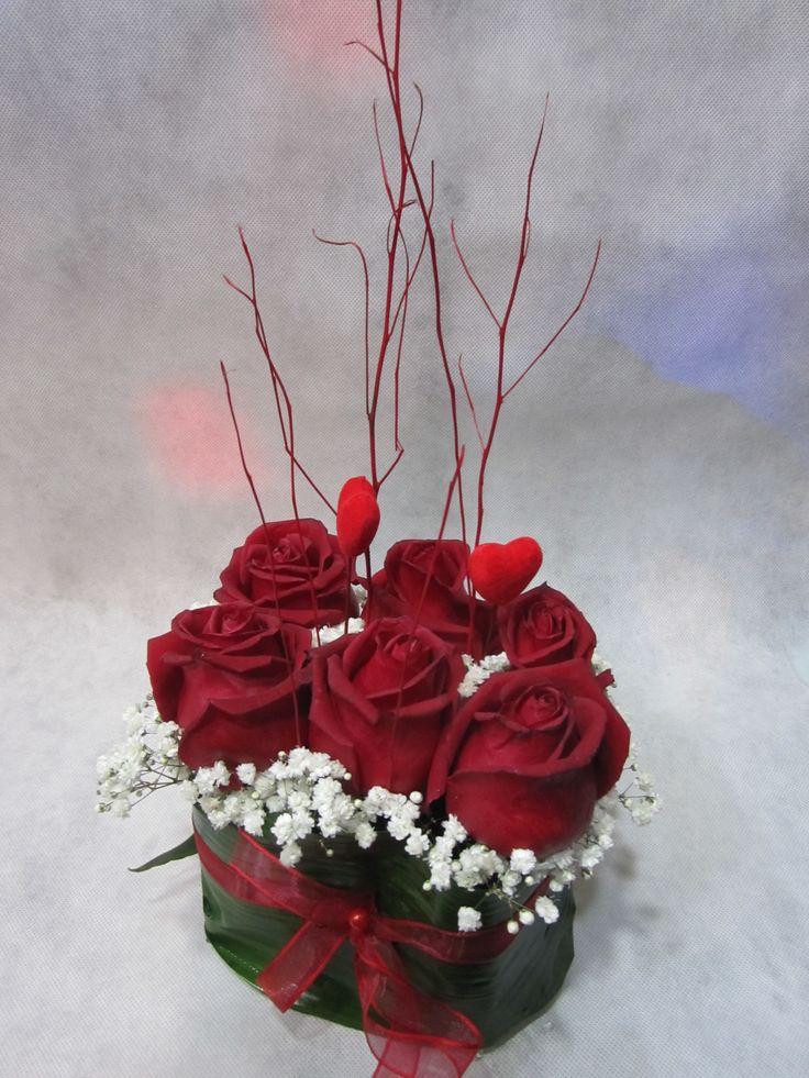 Centrotavola red roses