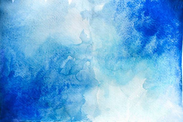 Blank Abstract Light Watercolor Background Isolated On White In