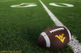 Flying WV Football 50 yard line by wretchedvoid, via Flickr