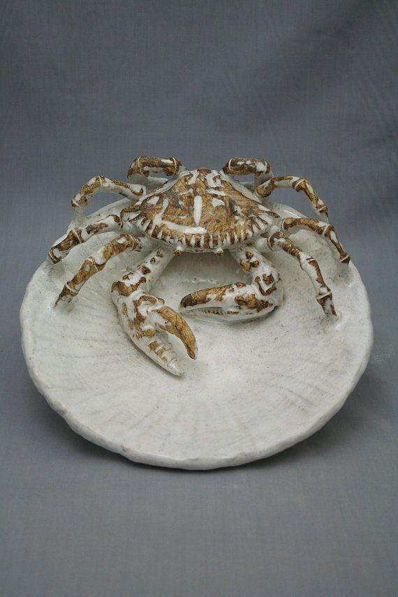 Ceramic Crab Plate by Shayne Greco beautiful mediterranean ...