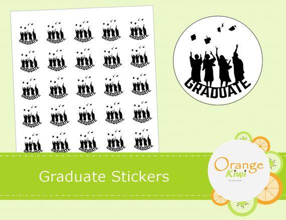 Graduate Stickers  Graduation Stickers  Class by OrangeKiwiDesign