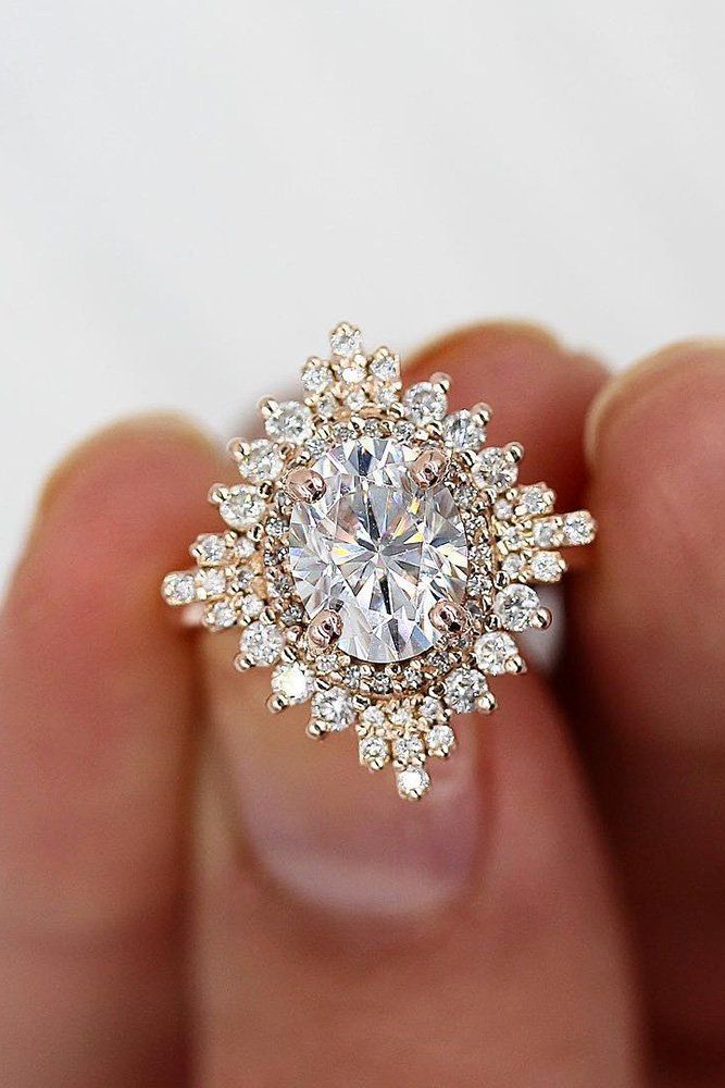 27 Moissanite Engagement Rings That Sparkle Like A Diamond Unique Engagement Rings Rose Gold Best Engagement Rings Rose Gold Engagement Ring