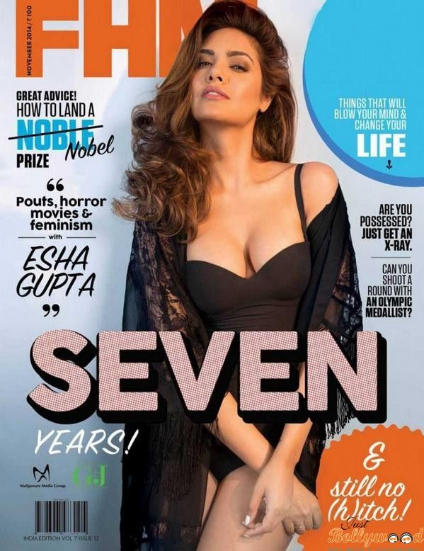 Esha Gupta Look's Seductive On The Cover of #FHM 2014 Issue