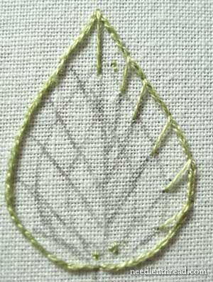 Long & Short Stitch shading in hand embroidery on needlenthread.com: