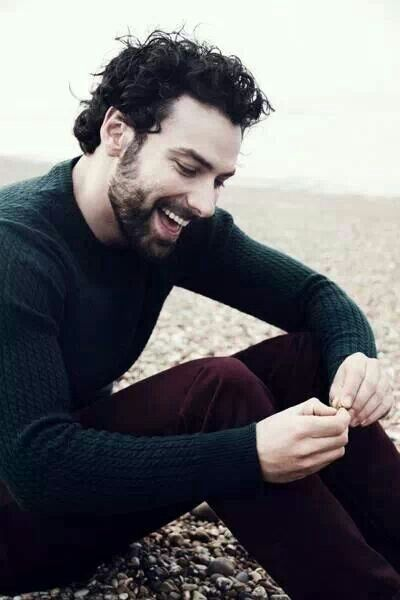 Aidan Turner: love that curly dark hair and that beaming irish smile! :D