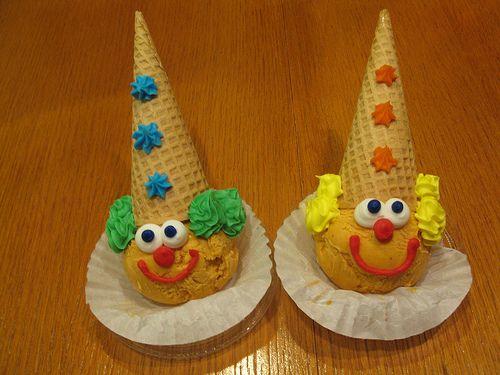 clown ice cream cones!