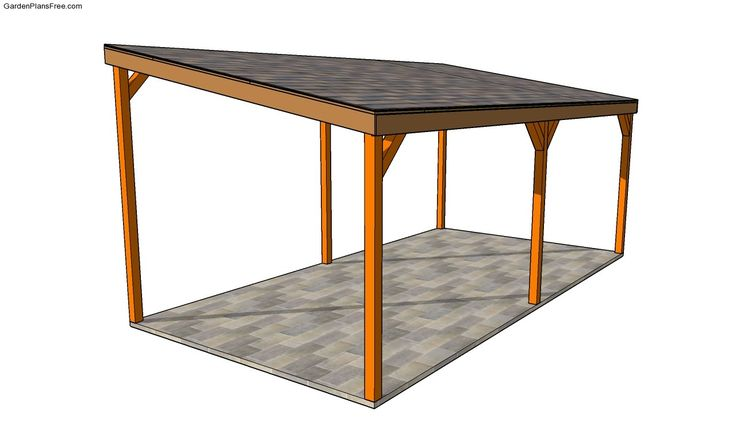Attached Carport Plans | Free Garden Plans - How to build garden projects