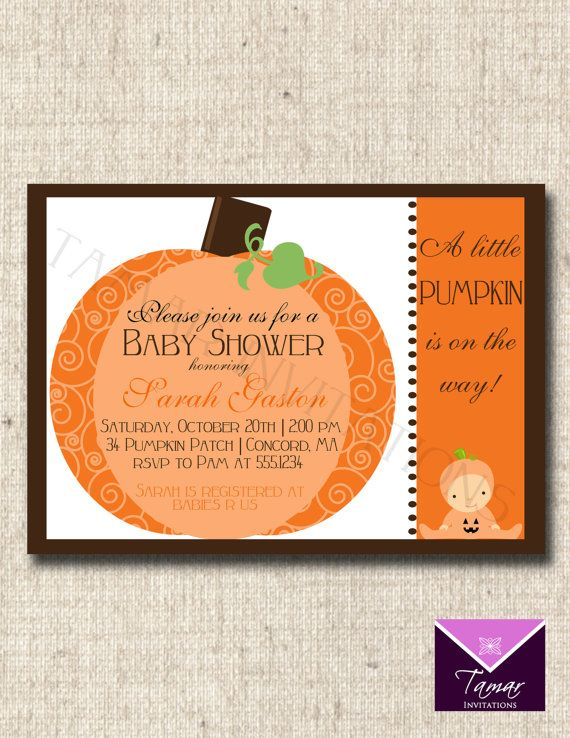 24 best baby shower images on pinterest baby showers shower ideas printable baby shower invitation cute little pumpin patch great for fall halloween or filmwisefo