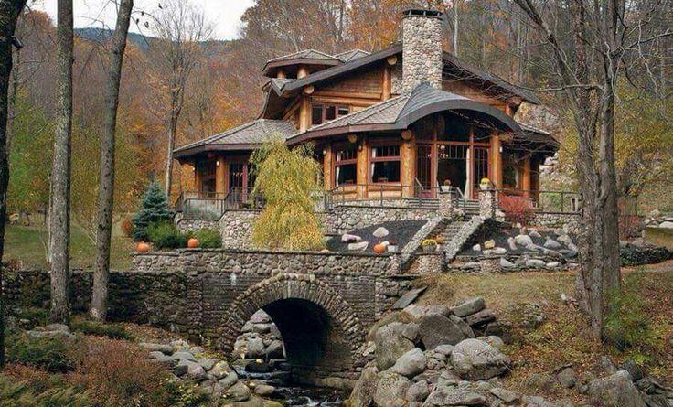 A dreamy log home.